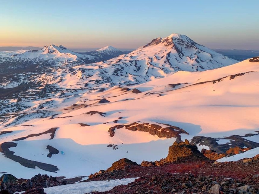 South Sister, Broken Top, Bachelor from North Sister