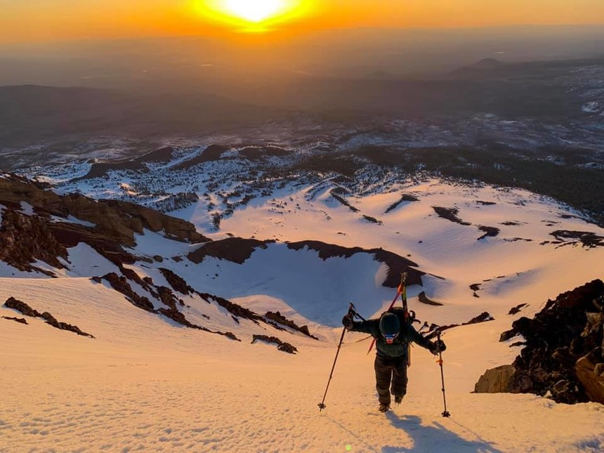 Sunrise on our way up to North Sister. Pure joy
