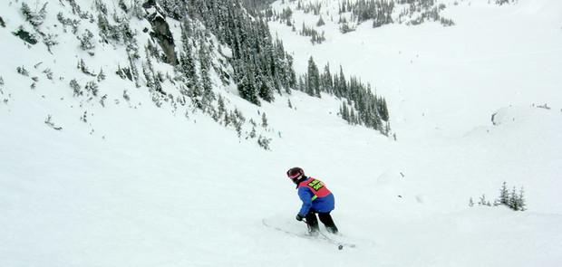 Donovan Skiing Ruby Bowl on Blackcomb
