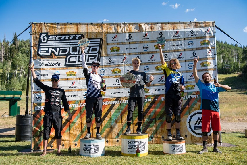 Men's Pro/Open Podium at the final round of 2016 at Deer Valley Resort