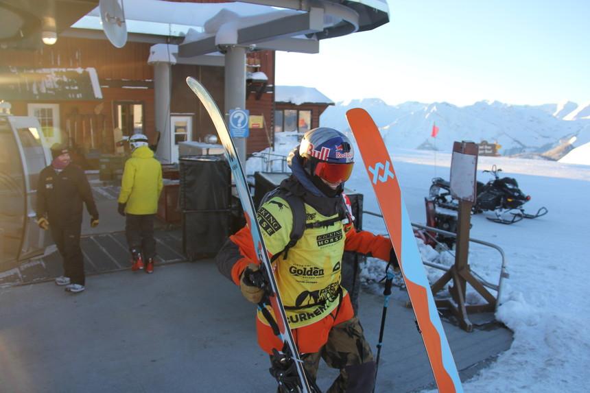 Markus Eder at Kicking Horse Mountain
