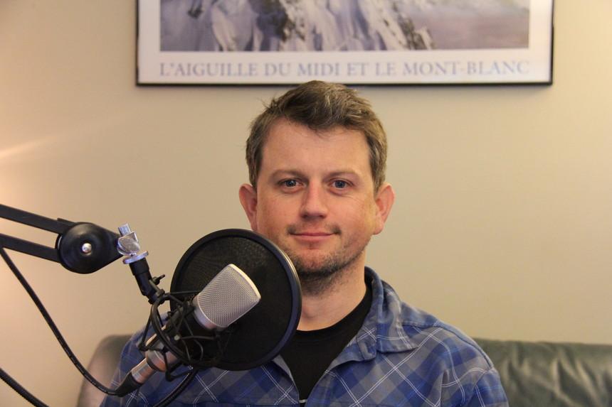 Jeff Thomas at the LPP Studios. - John Entwistle Photo