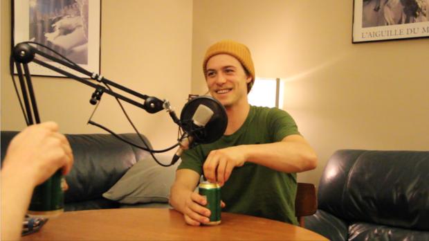 Kye Petersen in the Low Pressure Podcast Studios