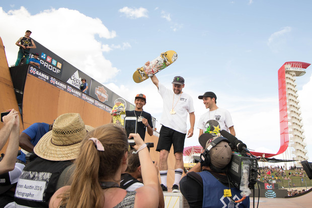 Sam Beckett Claims Gold in Men's Skateboard Vert