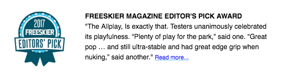 "Freeskier Magazine ""Allplay"" Limited Edition Ski by J Review"