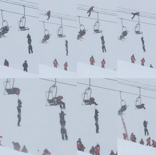 Courageous  friend rescues dangling skier off A-Basin lift